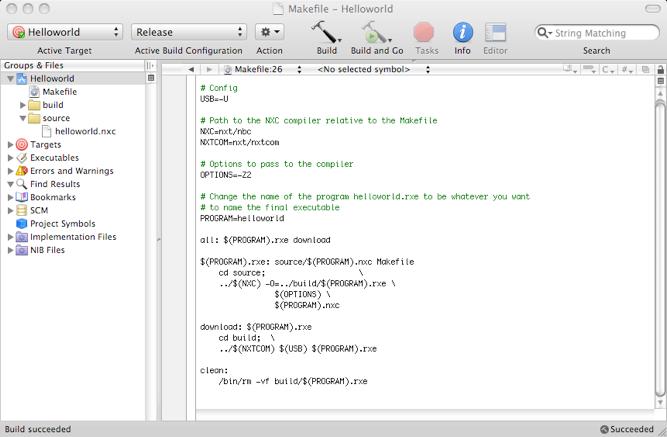 NXC in Xcode on Mac